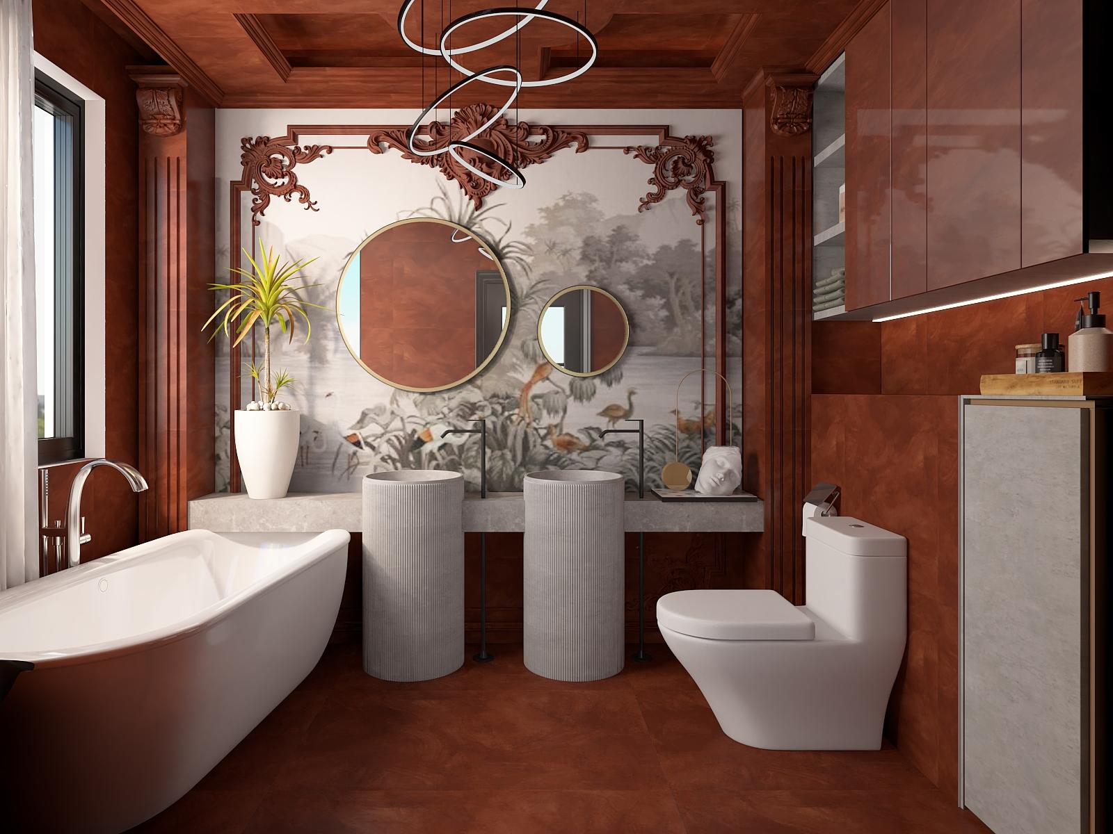 CW166+PAY1717独立浴缸  狸红--酒店风