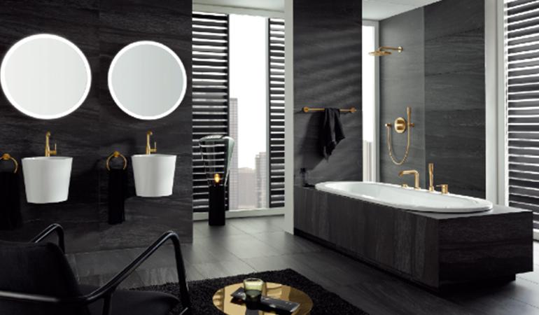 浴室中的色彩美学,蕴藏着动人心弦的美
