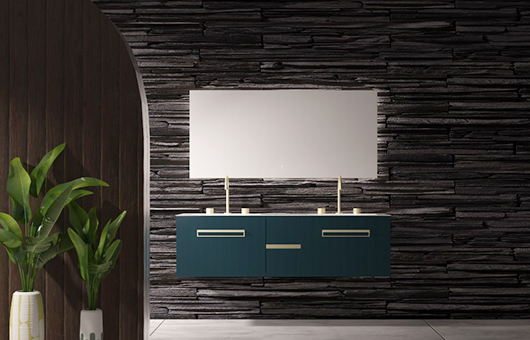 蒂高浴室柜-厚德墨绿