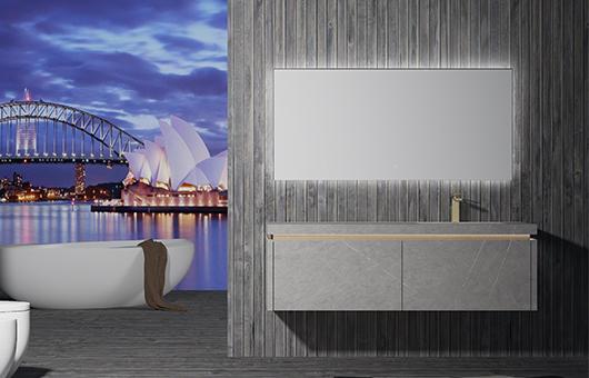 蒂高浴室柜-岩板