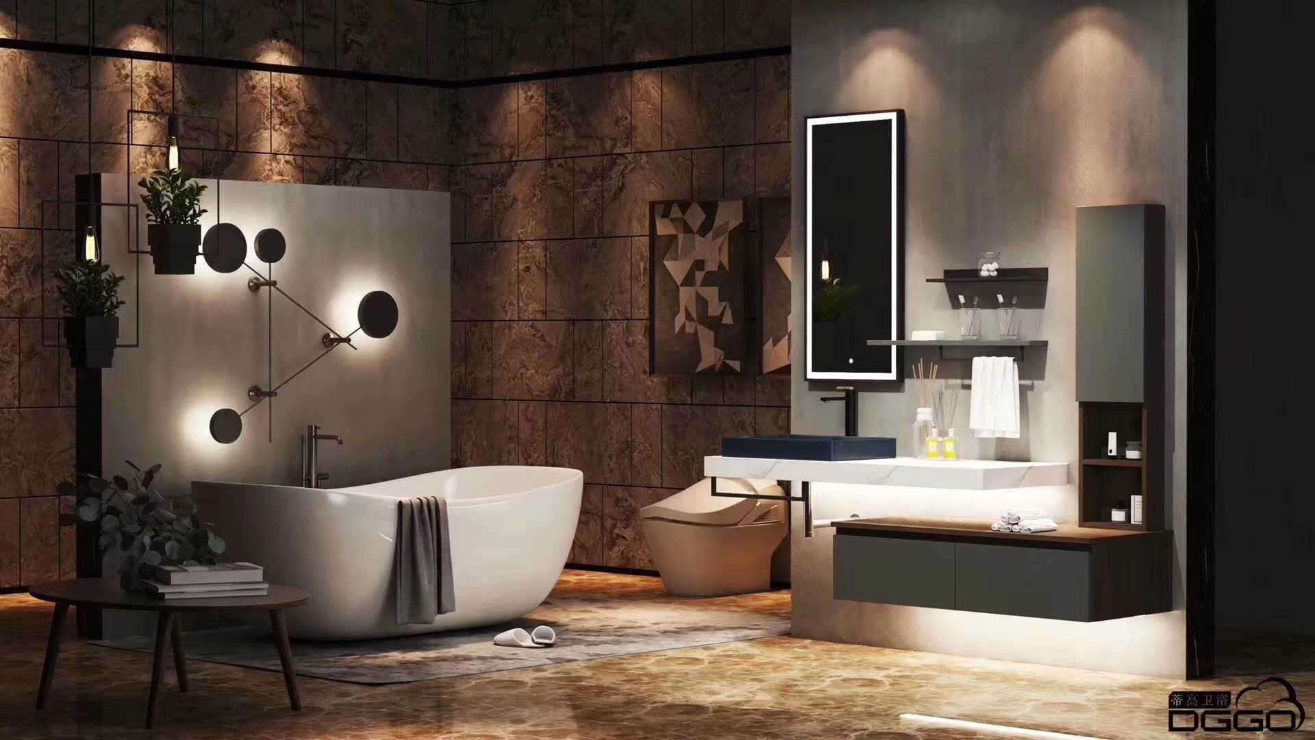 蒂高浴室柜效果图