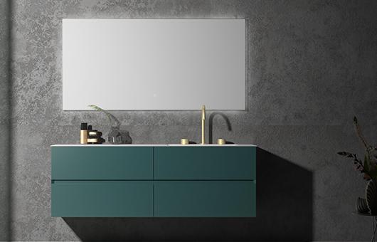 蒂高浴室柜-墨绿